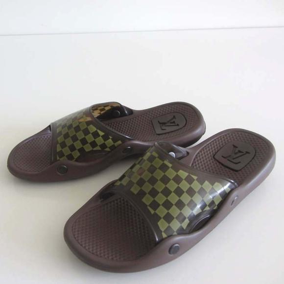 4ce1fec1c1b60 Louis Vuitton Other - LOUIS VUITTON Damier spa slide sandals 10   11 US